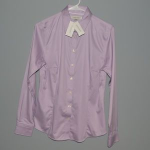 Banana Republic Womens Button Down Shirt Lavender
